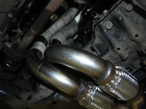Ремонт глушителей Хонда, установка гофры