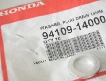 Уплотнительная шайба для замены масла в двигателе Хонда