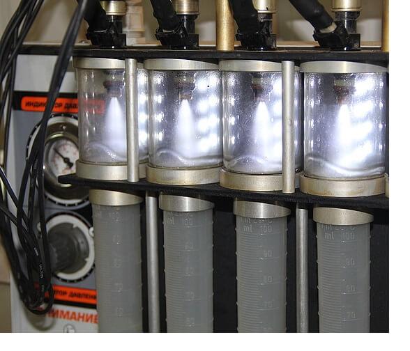Промывка топливных форсунок на стенде